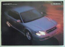 SUBARU LEGACY 2.0 & 2.5 LITRE SALOON orig 1999 UK Mkt Sales Brochure