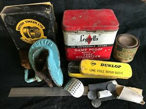 Australian Vintage advertising packaging Auto Car cycle tins etc Dunlop Leggetts