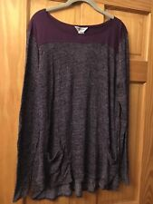 Hard Tail Long Sleeve Plum Lightweight Maternity Sweater Size M