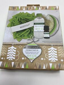 EcoTools Bath Kit Peppermint Bubble Bath Dry Body Brush Loofah Essential oil