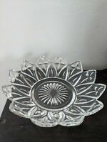 Vintage Federal Glass Flower Petals Bowl Candy Dish