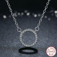925 Sterling Silver Circle of Hearts Pendant Necklace with Shimmering CZ Stones