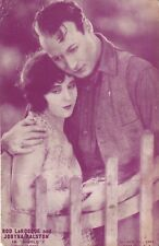 "JOBYNA RALSTON & ROD LaROCQUE ""gigolo"" -SILENT  MOVIE 1920s arcade/exhibit card"