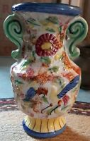 "Vintage Ceramic Porcelain Vase Wall Pocket MADE IN JAPAN 7"" Tall"