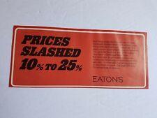 Eaton's Department Store Advertisement 1975 Vintage