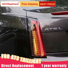 For Cadillac ATS LED Taillights Assembly Dark color LED Rear Lamps 2014-2017