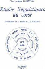 Etudes linguistiques du Corse - tome 1 et tome 2