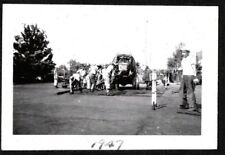 VINTAGE PHOTOGRAPH '47 CEMENT TRUCK NEW TENNIS COURTS YALE CONNECTICUT OLD PHOTO
