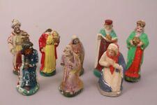 Krippenfiguren Maria Josef Könige bunt alt Handarbeit Weihnachten Deko