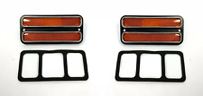 Pair Amber Deluxe Side Marker Lights Turn Signals For 1968-1972 Chevy GMC Truck