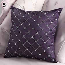 Home Sofa Cotton Bed Decor Lattice Throw Pillow Case Square Waist Cushion Covers