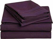 Luxor Style Microfiber Sheet ~ Plum ~ Queen FITTED ONLY *NEW*