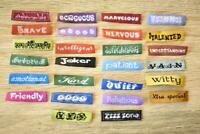26 Words Letter 26pcs 10x40mm Woven Clothing Label Tags Sew On