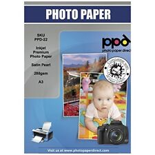 PPD Inkjet Satin Pearl Super Premium Photo Paper A3 280gsm x 50 Sheets PPD-22-50