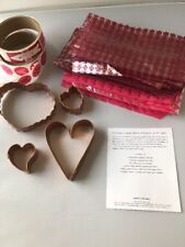 Martha Stewart by Mail HEARTS COPPER COOKIE CUTTERS Secret Admirer set bags ++