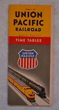 Vtg Train Times Table Union Pacific Railroad October 1 1947