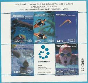 Espagne de 2003 Neuf Bloc 117 MiNr.3748-3850 - Natation WM