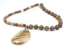 Agate Moonstone Pearl Necklace Women's Gemstone Jewelry Ct480 Easter Gift Sale