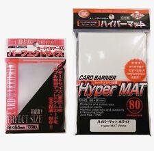 KMC bundle - 100 Perfect size sleeves + 80 Hyper mat White