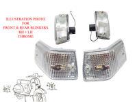 Vespa Front Rear Indicator Pair Clear Len E4 Mark PX 125 150 VBX LML Star Stella