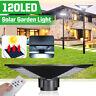 120W 120LED Solar Straßenlaterne Hofbeleuchtung Mastleuchte Gartenlampe +Remote