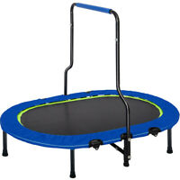 Kids Trampoline W/Handrail and Safety Cover Sport Outdoor Jumping Table Fitness