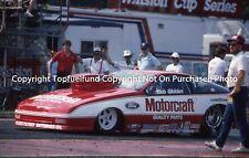 Bob Glidden Probe 8x10 NHRA Pro Stock Ford Team Photo Ca. 1990