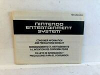 Nintendo Entertainment System NES Precaution NES-USA/CAN-2 INSERT ONLY Authentic