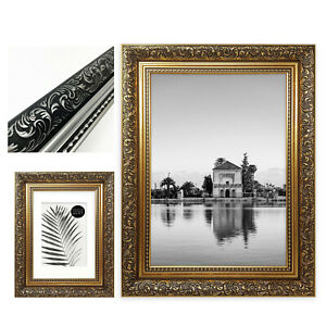 Ornate Photo Picture Frame Gold Silver Antique Style Poster Shabby Chic Vintage