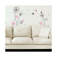 Hassle Free Large Pink Dandelion Wall Sticker Resistant to Water & Steam