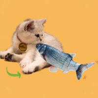 2pcs Graskarpfen Elektrisch tanzender Fisch Katzenspielzeug Wagging Flipping