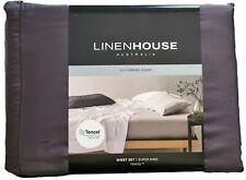 Charcoal Tencel Sheet Set by Linen House | 3750TC | TENCEL™ Doesn't Wrinkle