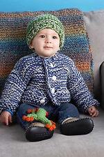 Knitting Pattern -Baby (Unisex) Super Chunki Cardi & Hat (4 sizes- 9m-2ys) PO118