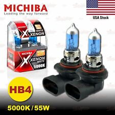 HB4 9006 MICHIBA 55W 5000K Xenon SUPER WHITE Halogen HeadLight Bulbs LOW BEAM