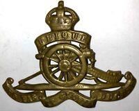 Vintage WWI WWII British Royal Regiment of Artillery Badge Hat Device
