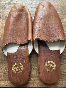 L.B Evans 1804 Leather Slippers Brown 10 Soft Sole Leather Slip On