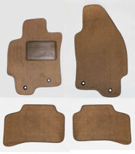 NEW! 2004 - 2009 Jaguar X Type Tan Carpet Floor Mats 4pc Set w/ Heel Pad