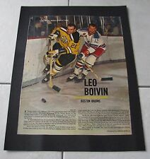 STAR WEEKLY LOT OF TEN (10) NHL HOCKEY PICTURES 50's/60's LAMINATED ON POSTERS