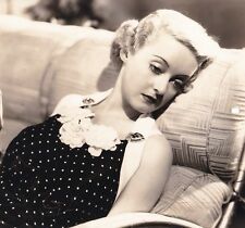 BETTE DAVIS Original Vintage FRONT PAGE WOMAN FRYER Warner DBW Portrait Photo