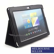 Black Leather Flip Stand Case Cover for Samsung Galaxy Tab 2 10.1 P5100 P5110