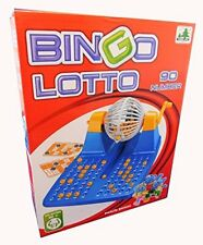 Family Large Bingo LOTTO Game Revolving Machine With 90 Numbers & 48 Cards