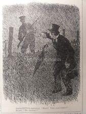 WW1 Sentry appare-fermare! che va qui? 2nd SETTEMBRE 1914 PUNCH CARTOON