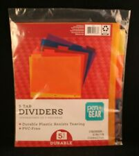 Pengear 5 Tab Dividers Durable Plastic Resists Tearing 85 X 11