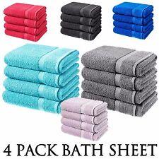 BATH SHEET LUXURY 100% COTTON BATHROOM TOWEL BATH 4 PACK