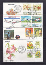 FDC:  1986-8-9   X  4   SETS   ORCHIDS, POLICE, AVIATION, STAR FISH..