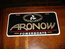 ARONOW POWERBOATS LICENSE PLATE