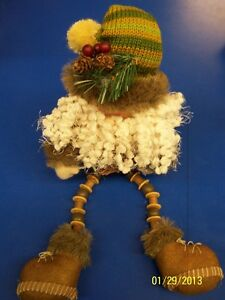 Camo Button Leg Santa Hanna's Handiworks Christmas Gift Collectible Figurine
