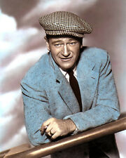 "JOHN WAYNE THE QUIET MAN 1952 HOLLYWOOD ACTOR 8X10"" HAND COLOR TINTED PHOTO"