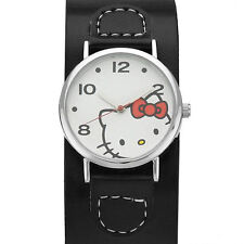 HELLO KITTY  Ladies Watch in Black Leather Model h3wl1000nonnf