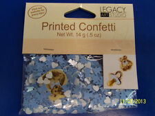Sweet Prince Boy Blue Baby Shower Party Decoration Shaped Printed Confetti *
